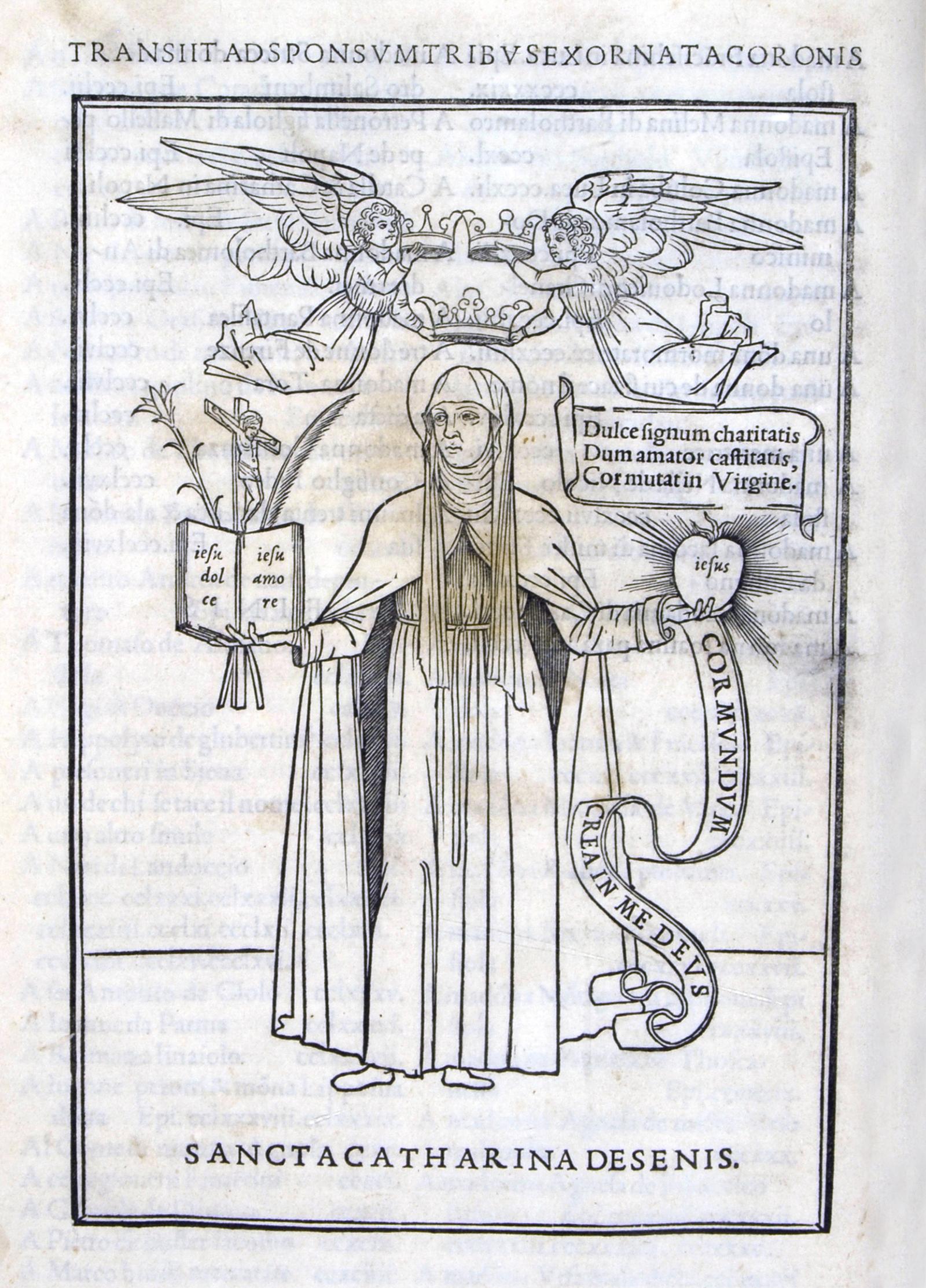 Epistole di s. Caterina da Siena, Aldo Manuzio, Venezia 1500. Biblioteca Universitaria di Bologna.